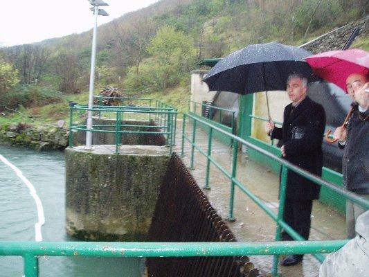 Šibensko-kninski župan Goran Pauk obišao brane na Brljanu